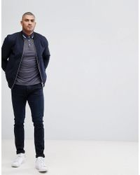 Ted Baker - Blue T For Tall Polo Shirt With Contrast for Men - Lyst