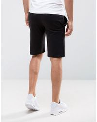 French Connection Black Jersey Shorts for men