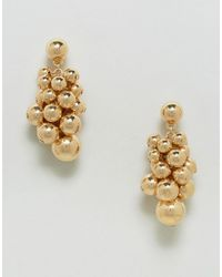 ASOS - Metallic Ball Waterfall Earrings - Lyst