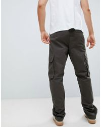 French Connection Green Utility Cargo Trouser for men