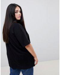 ASOS Asos Design Curve T-shirt With biggie Smalls Print In Black