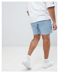 Plus - Short en jean court coupe skinny - délavé clair ASOS pour homme en coloris Blue
