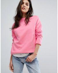 Warehouse Pink Classic Sweatshirt