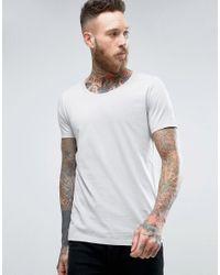 ASOS | T-shirt In Gray With Scoop Neck for Men | Lyst
