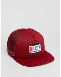 Brixton Red Hayward Trucker Cap for men
