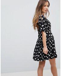 ASOS Multicolor Casual Mini Tea Dress