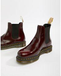 Dr. Martens Vegan 2976 Chelsea Boots In Red for men