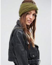 ASOS - Mohair Mix Twist Front Headband - Green - Lyst