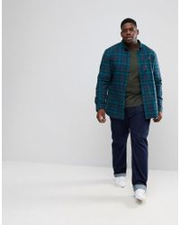 Farah - Blue Plus Waithe Slim Fit Check Shirt In Navy for Men - Lyst