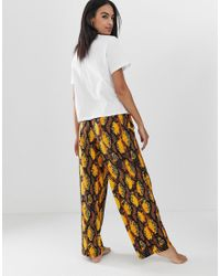 ASOS Multicolor Snake 'love Bites' Pyjama Pants Set