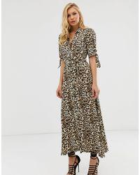 Robe longue à imprimé léopard Zibi London en coloris Multicolor