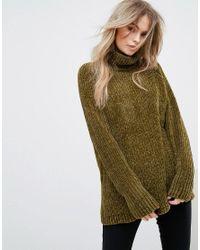 Vero Moda Green Roll Neck Sweater