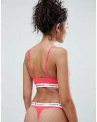 Tommy Hilfiger Orange Iconic Triangle Bra
