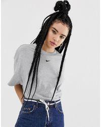 Nike Gray Oversized Boyfriend T-shirt