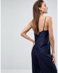Finders Keepers Blue Insomnia Print Cami Top