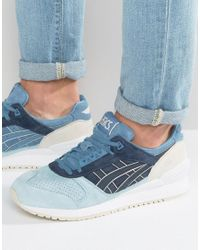 Asics Gel-respector Suede Sneakers In Blue H720l 5858 for men