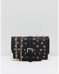 71269d09d1 Lyst - Yoki Fashion Studded Shoulder Bag With Chain Strap in Black