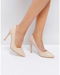 Truffle Collection Natural Heel Court Shoe