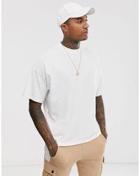 T-shirt girocollo bianca oversize di ASOS in White da Uomo