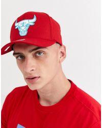 Chicago Bulls 110 - Casquette à bride arrière - /bleu sarcelle Mitchell & Ness pour homme en coloris Red