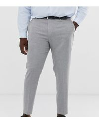 ASOS Gray Plus Wedding Skinny Suit Trousers for men