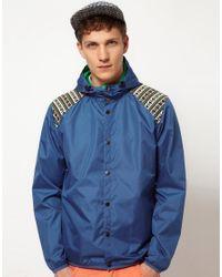 ASOS Blue Cagoule in A Bag for men