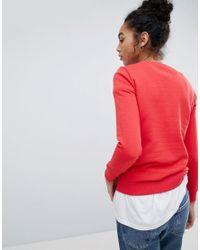 Armani Exchange - Red Embossed Matte Logo Sweat - Lyst