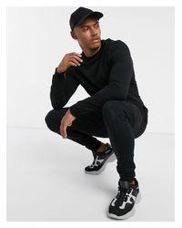 Chándal negro ajustado ASOS de hombre de color Black