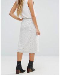 Isla - White Voyager Skirt - Lyst