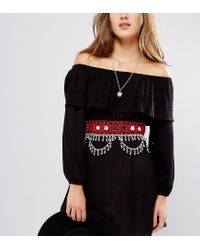 Glamorous | Red Festival Belt With Mirror And Chain Detail | Lyst