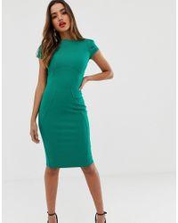 Vestido Closet de color Green