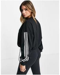 Черный Свитшот С Тремя Полосками И Регулирующим Шнурком Adidas Training Adidas Originals, цвет: Black