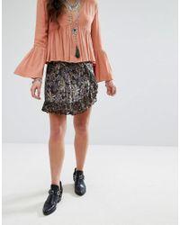Free People - Black Around The World Skirt - Lyst