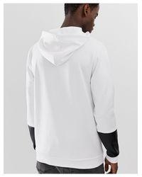 Sudadera con capucha en tricot ASOS de hombre de color White
