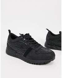 River Island Trainers In Black for men