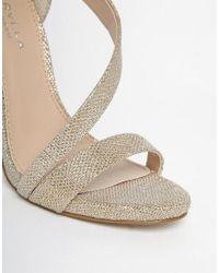 Carvela Kurt Geiger - Metallic Gosh Gold Heeled Strap Sandals - Lyst