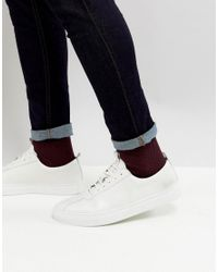 GRENSON Trainers In White Leather for men