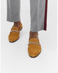 Замшевые Светло-коричневые Лоферы С Цепочками House Of Hounds для него, цвет: Multicolor