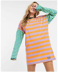 Платье-футболка В Стиле Oversized В Полоску С Цветными Блоками-мульти The Ragged Priest, цвет: Multicolor