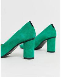 Escarpins pointus à talons arrondis SELECTED en coloris Green