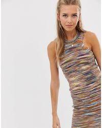Robe courte en maille teinte par sections ASOS en coloris Multicolor