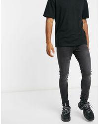 Черные Супероблегающие Джинсы -черный Цвет Pull&Bear для него, цвет: Black