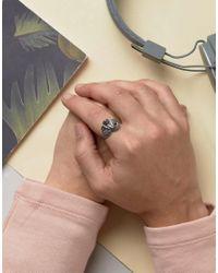 ASOS - Metallic Snake Ring In Sterling Silver - Lyst