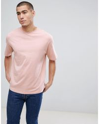 Only & Sons Pink T-shirt In Oversized Fit for men