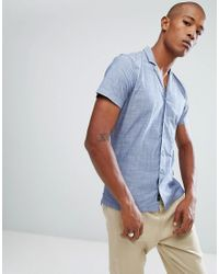 Camicia con colletto a rever di Minimum in Blue da Uomo