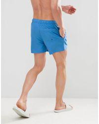 Short de bain coupe longue - Bleu ASOS pour homme en coloris Blue