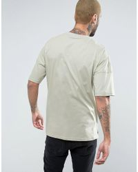 Mennace Green Extreme Drop Shoulder T-shirt In Mint for men