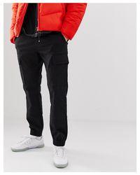 Pantaloni cargo neri di New Look in Black da Uomo