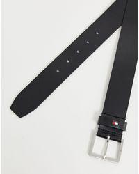 Черный Кожаный Ремень Modern Tommy Hilfiger для него, цвет: Multicolor