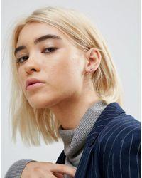 ASOS | Metallic Sterling Silver Bar & Ball Stud Earrings | Lyst
